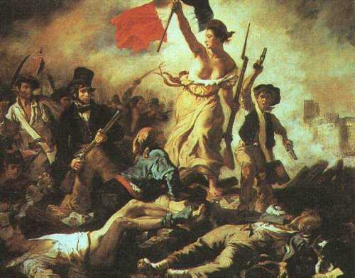 The iconic Delacroix painting has been vandalized at the Louvre.